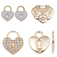 Zinc Alloy Lock Pendants