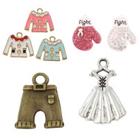 Garment Shaped Zinc Alloy Pendants