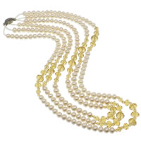 Crystal Freshwater Pearl Necklace