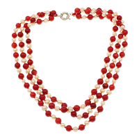 Coral Freshwater Pearl Necklace