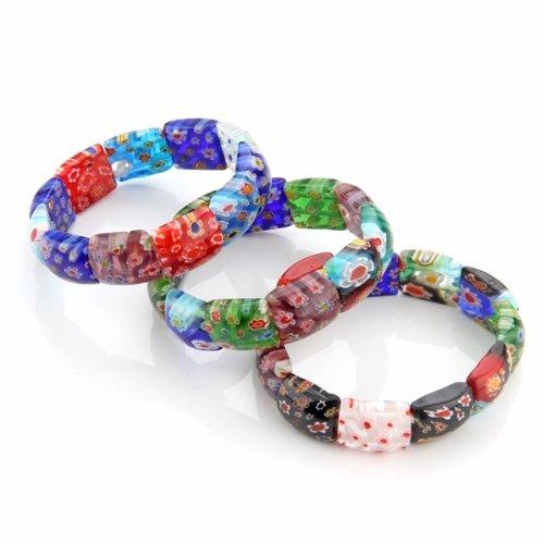 Millefiori Glass Bracelet & Bangle