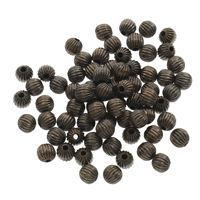 Corrugated Brass Beads