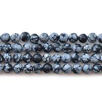Snowflake Obsidian Bead