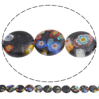 Bluesand Millefiori Glass Beads