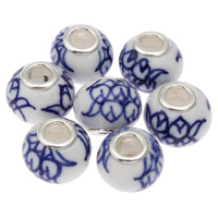 Brass Core European Porcelain Beads