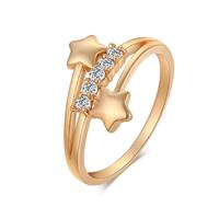 Rhinestone Brass Finger Ring