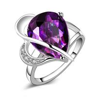 Crystal Brass Finger Ring