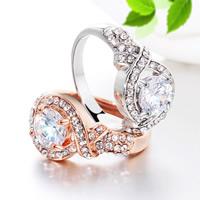 Rhinestone Zinc Alloy Finger Ring