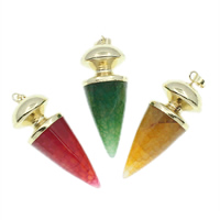 Agate Brass Pendants