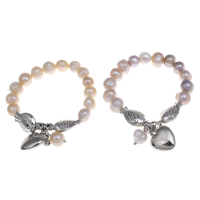 Cultured Freshwater Pearl Brass Bracelet