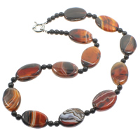 Agate Sweater Chain Necklace