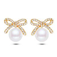 Plastic Pearl Zinc Alloy Earring