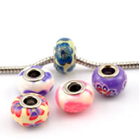Brass Core European Polymer Clay Beads
