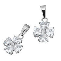 Cubic Zirconia Stainless Steel Pendant