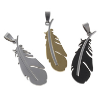 Stainless Steel Feather Pendant