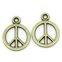 Zinc Alloy Peace Pendants