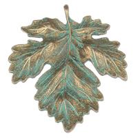 Zinc Alloy Leaf Pendants
