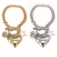 Zinc Alloy Iron Chain Bracelets