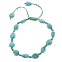 Turquoise Woven Ball Bracelets