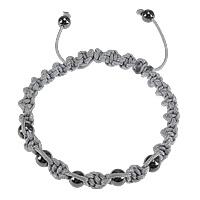 Hematite Woven Ball Bracelets