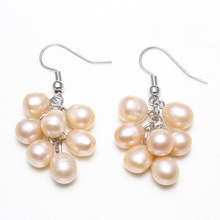 Sterling Silver Pearl Cluster Earring